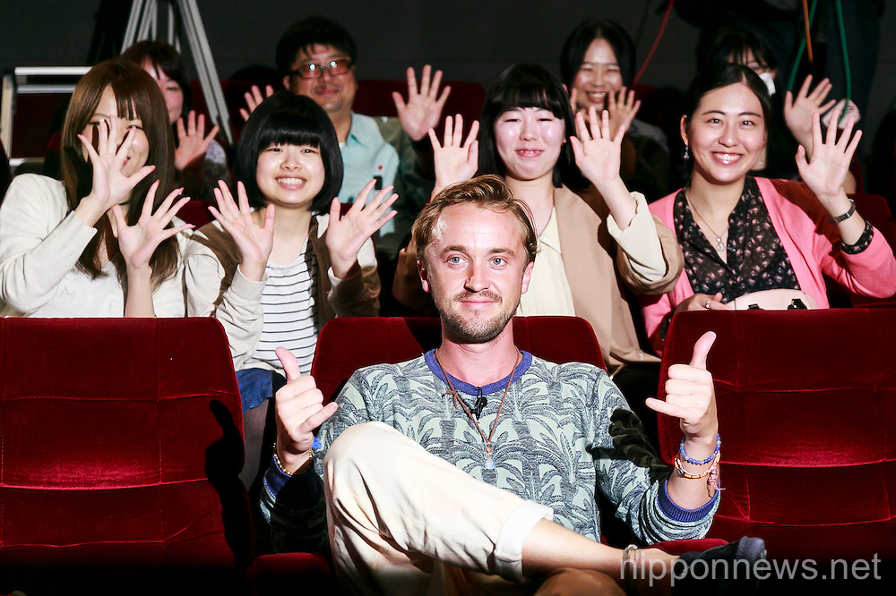 Tom Felton promotes his movie ''Risen'' in Tokyo