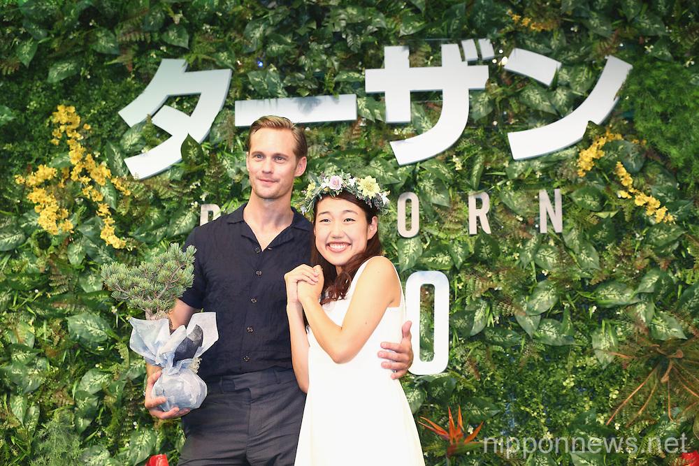 Alexander Skarsgard in Tokyo to promote Tarzan
