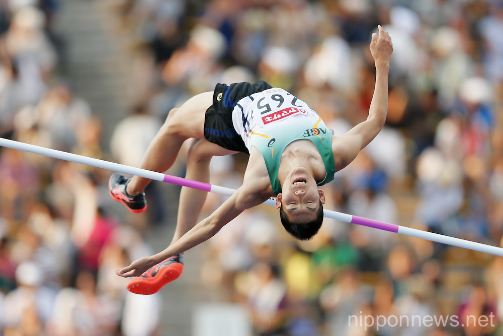 Takashi Eto, JUNE 26, 2016 - Athletics : The 100th Japan Track & Field National Championships Men's High Jump Final at Paloma Mizuho Stadium, Aichi, Japan. (Photo by Yusuke Nakanishi/AFLO SPORT)