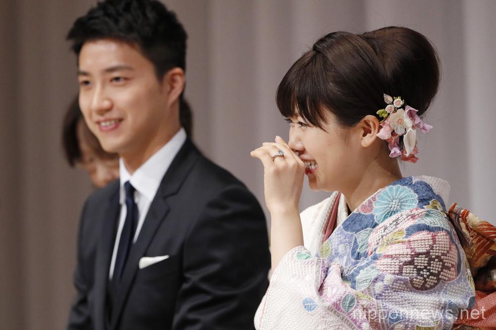 Table Tennis couple Ai Fukuhara and Chiang Hung-chieh wed