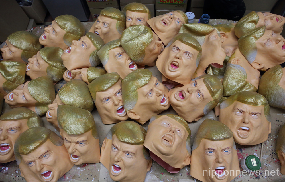 Japanese Trump mask maker sees boom in business
