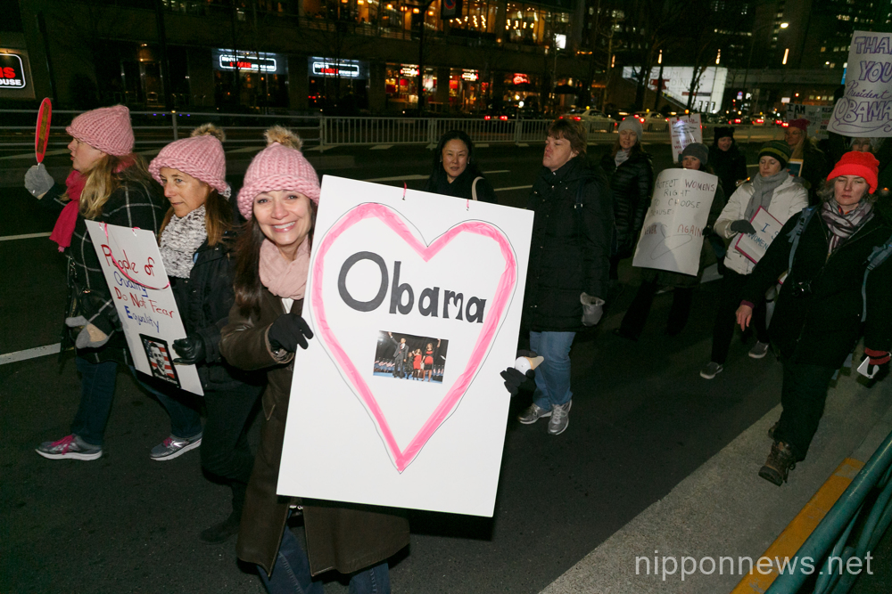 Anti-Trump protesters take to the streets of Tokyo