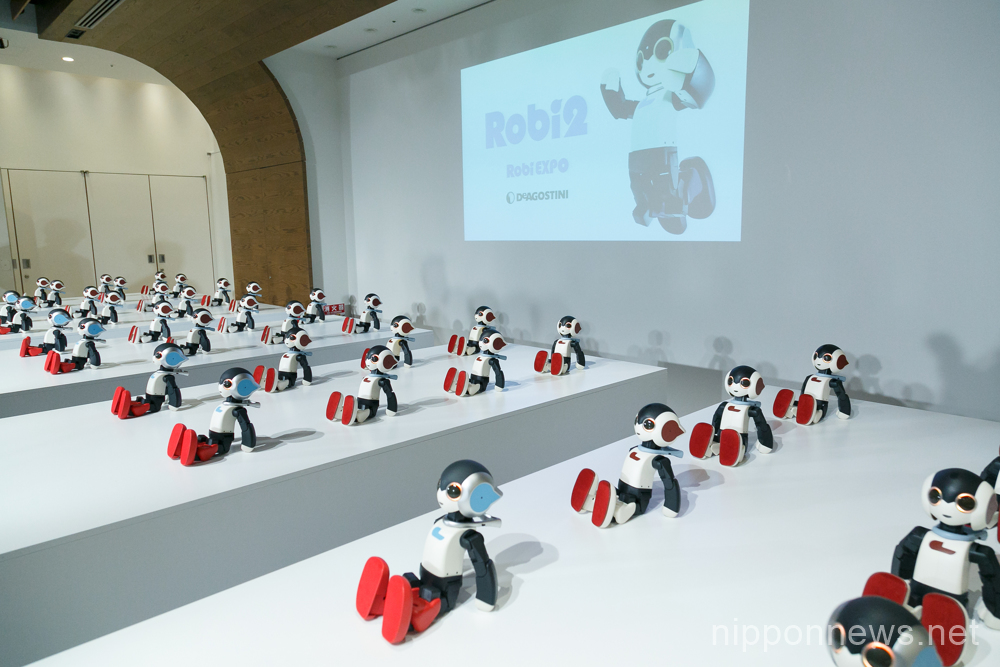 48 Robi robots dance in unison at Robi EXPO