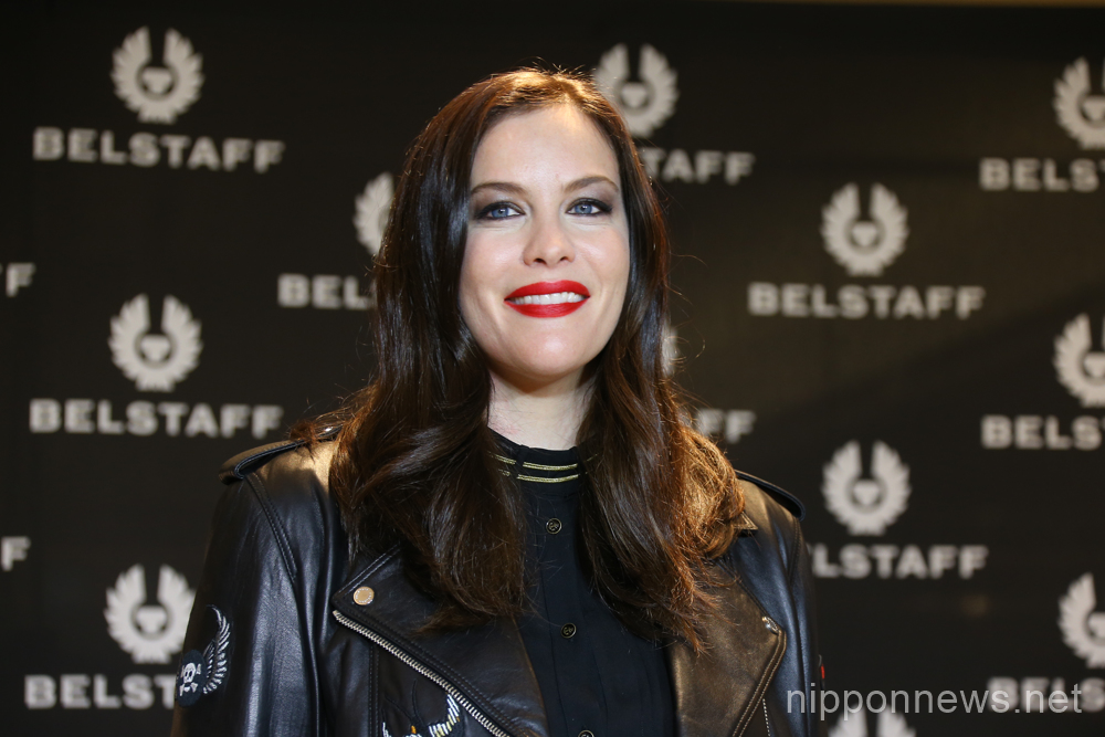 Liv Tyler attends Belstaff store opening in Ginza