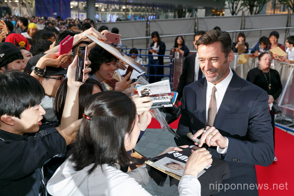 "Hugh Jackman attends ""Logan"" premiere in Japan"