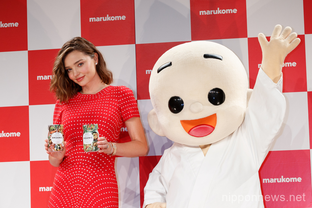 Miranda Kerr attends cooking demos for Marukome miso products