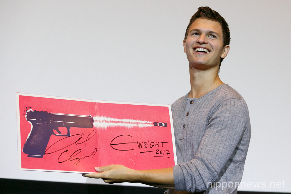 "Ansel Elgort promotes ""Baby Driver"" in Tokyo"