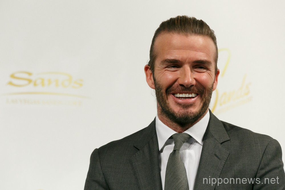 David Beckham in Japan to promote casino industry
