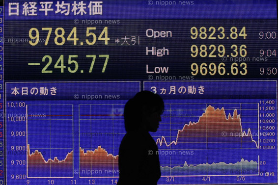 Japan Hints at Yen Intervention Japan Hints at Yen Intervention 日経平均株価の終値が1万円を割り込む