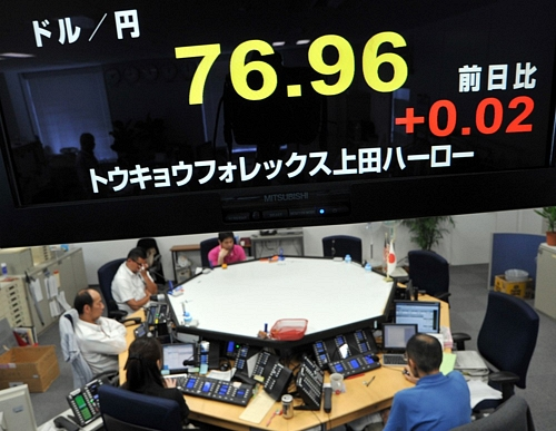 Dollar Weakened Against the YenDollar Weakened Against the Yen円高止まらず 76円台に 米ゼロ金利継続で円買い