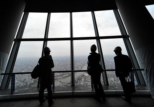 Tokyo Sky Tree Observation Deck東京スカイツリー 第1展望台を報道公開