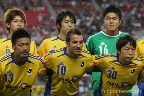 J League special match for 2011 Great East Japan Earthquake at Kashima stadium