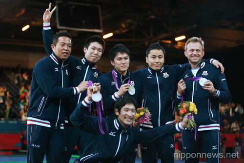 2012 Olympic Games – Fencing – Men's Team Foil medal ceremony2012 Olympic Games – Fencing – Men's Team Foil medal ceremony2012 Olympic Games – Fencing – Men's Team Foil medal ceremony2012 Olympic Games – Fencing – Men's Team Foil medal ceremony