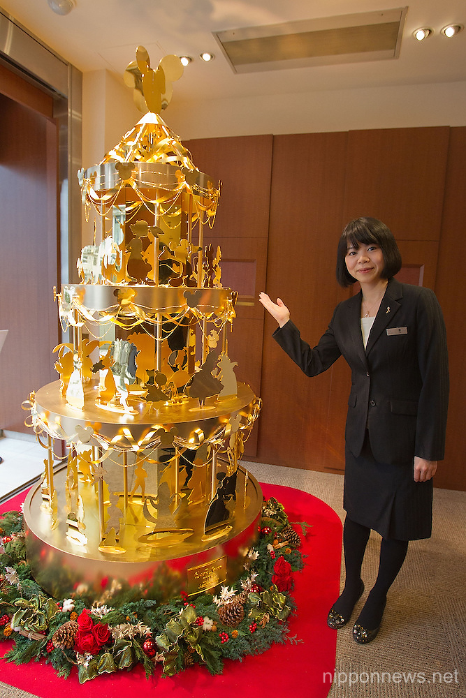 Japanese Christmas Tree.Ginza Tanaka 2 4 Meter Disney Gold Christmas Tree Nippon