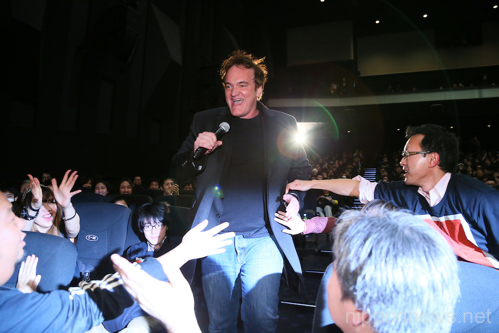 Quentin Tarantino in Japan to promote Django Unchained