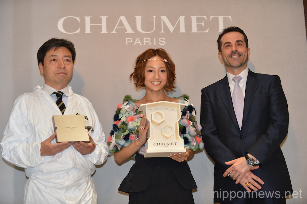 Girl next door vocalist Chisa attends a Chaumet Paris jewelry event