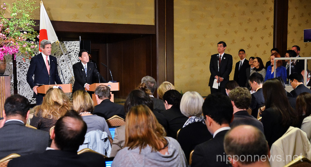 Joint press conference at Iikura Guest House