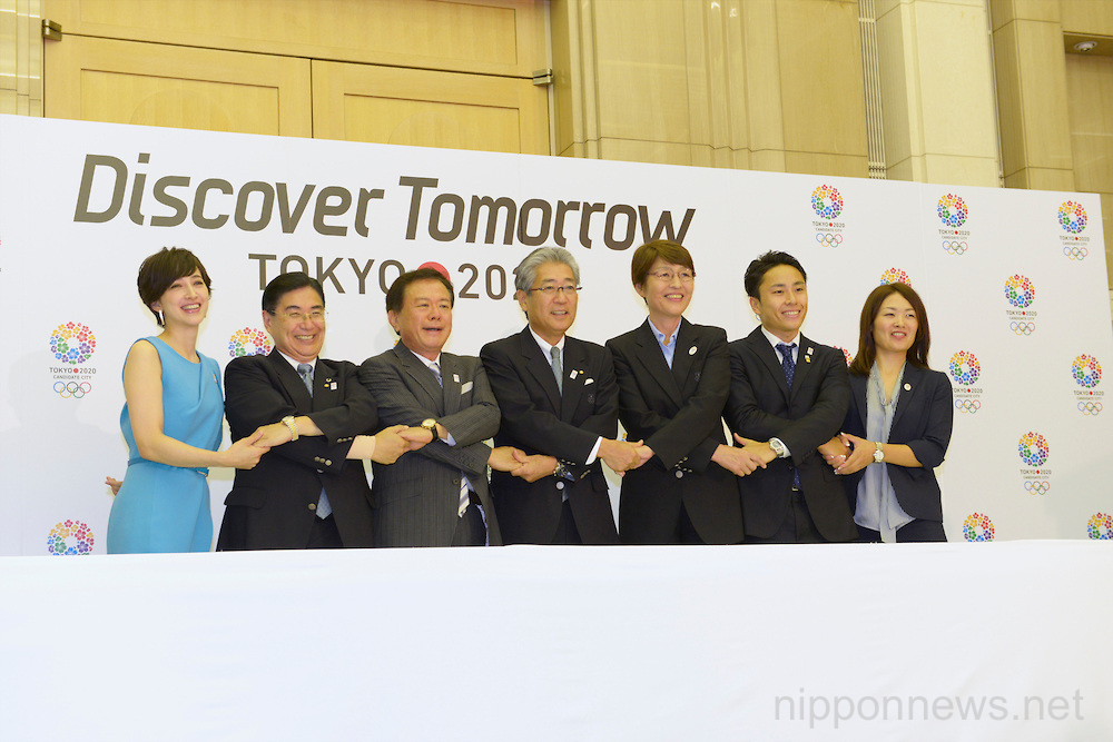 Tokyo 2020 Bid Commttee Press conference for the 125th IOC Session