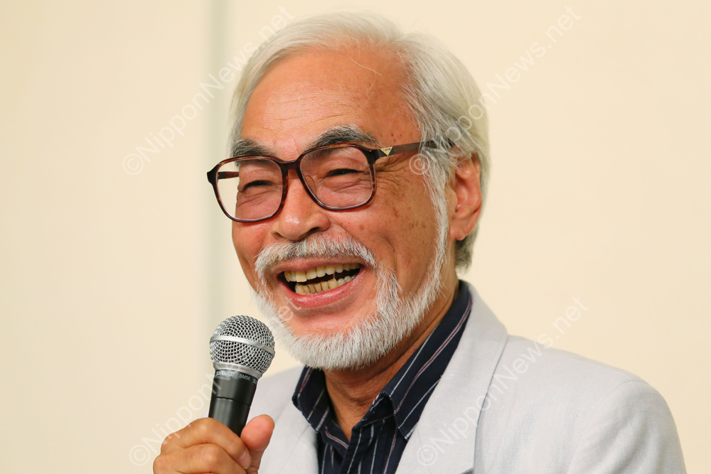 Hayao Miyazaki announces his retirement during a press conference in Tokyo