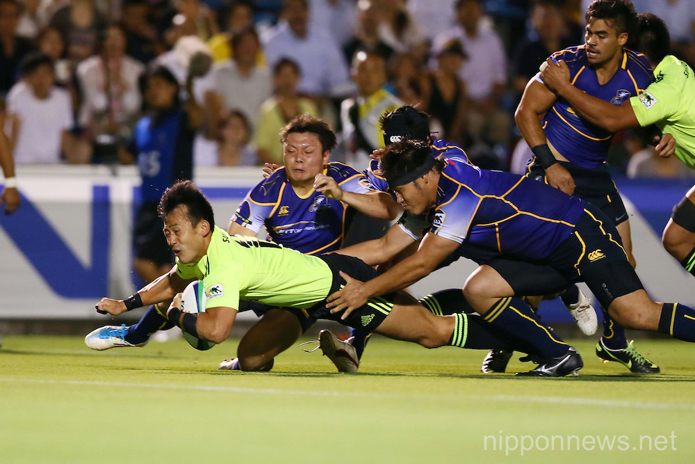 Rugby: Japan Rugby Top League 2013-2014 - Suntory Sungoliath 32-6 NTT Shining Arcs