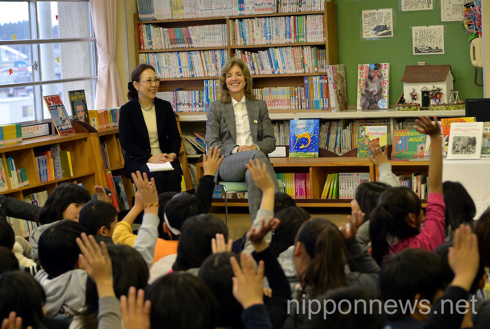 Caroline Kennedy visiting Miyagi Prefecture