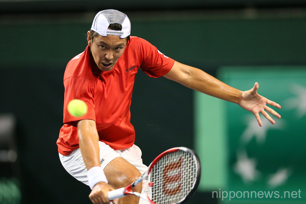 Tennis: Davis Cup 2013 by BNP Paribas -Tatsuma Ito and Yuichi Sugita 0-3 Juan Sebastian Cabal and Robert Farah