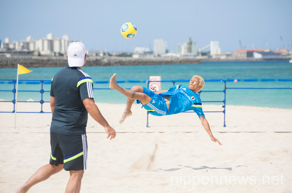 Beach Soccer Japan National Team Candidates Training Camp in Okinawa