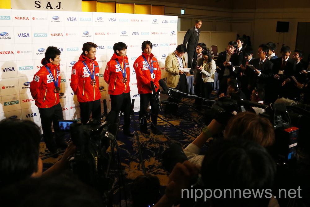 Sochi Olympic medalist honor ceremony