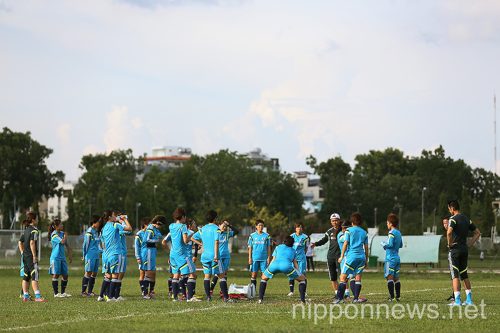 Football/Soccer: AFC Women's Asian Cup Japan team training session in Ho Chi Minh City
