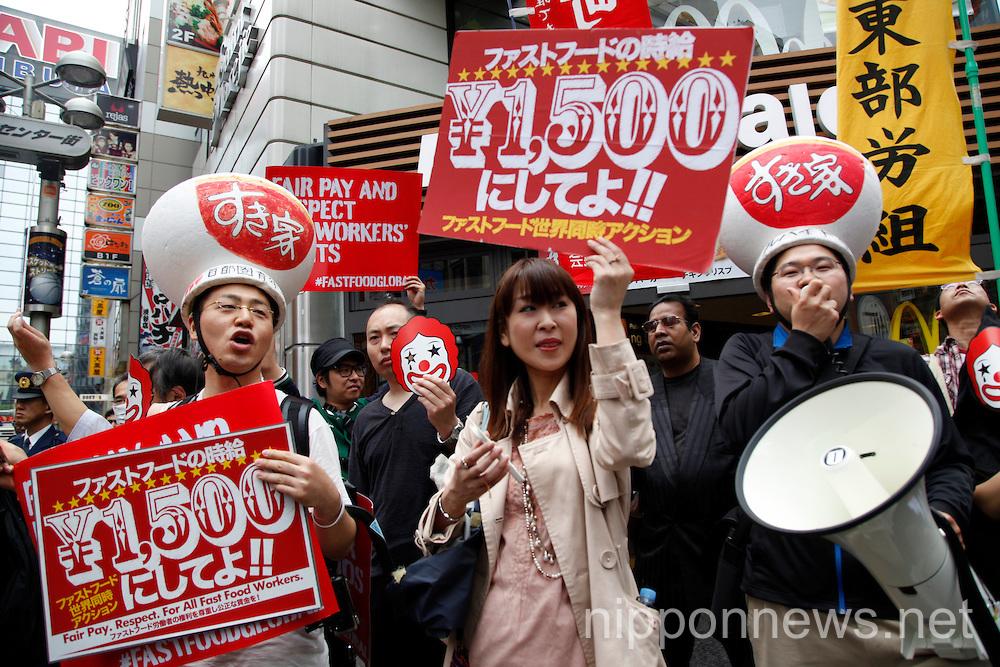 Fast-food global workers strike