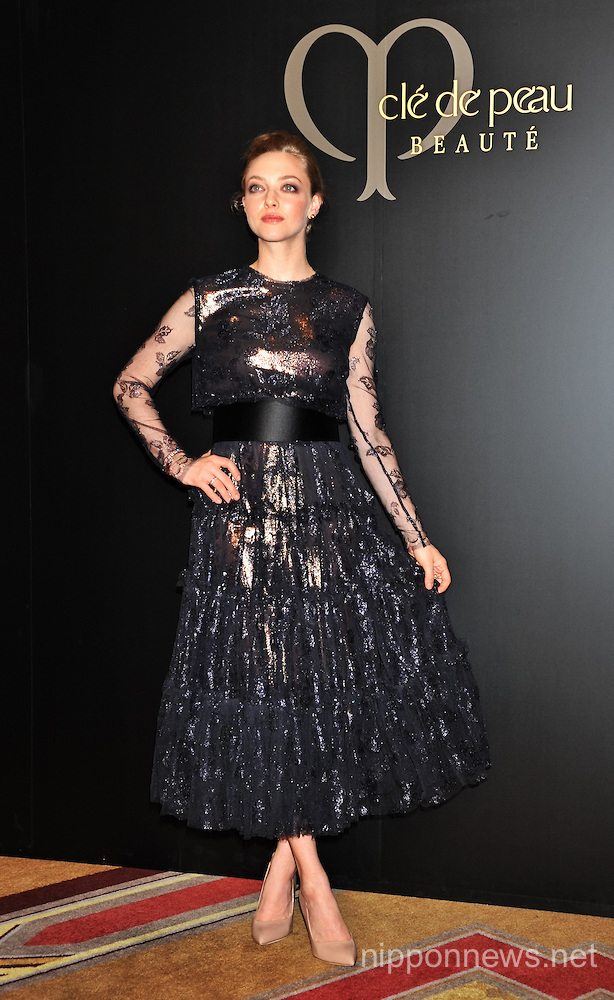 "Amanda Seyfried at the ""Cle de peau BEAUTE 2014"" of Shiseido in Tokyo"
