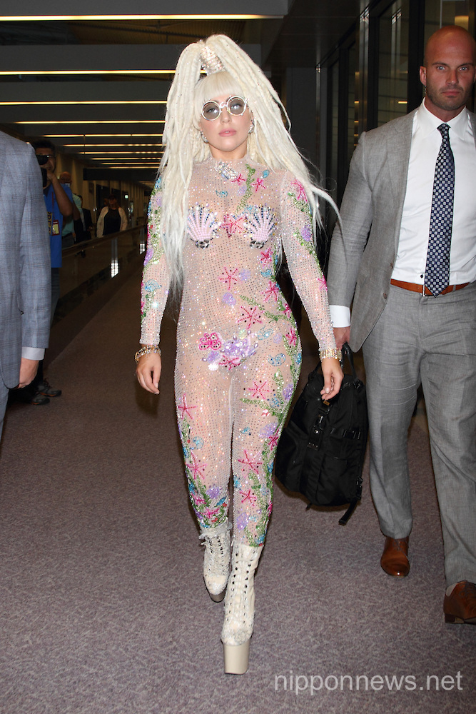 Lady Gaga arrives in Japan to Promote artRAVE Tour 2014