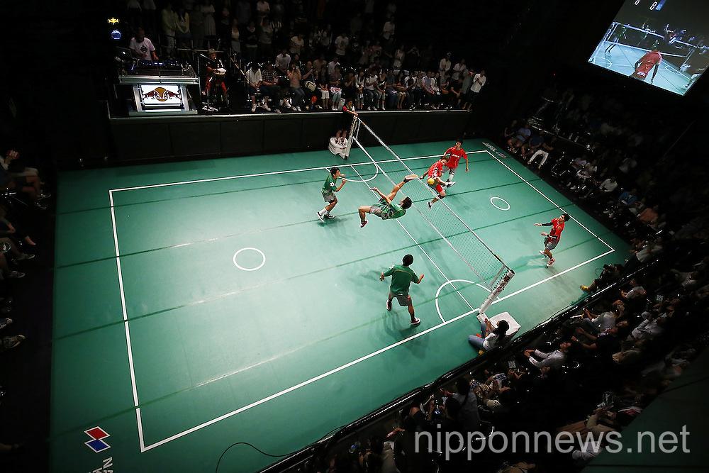 Sepaktakraw game at Tsutaya O-EAST