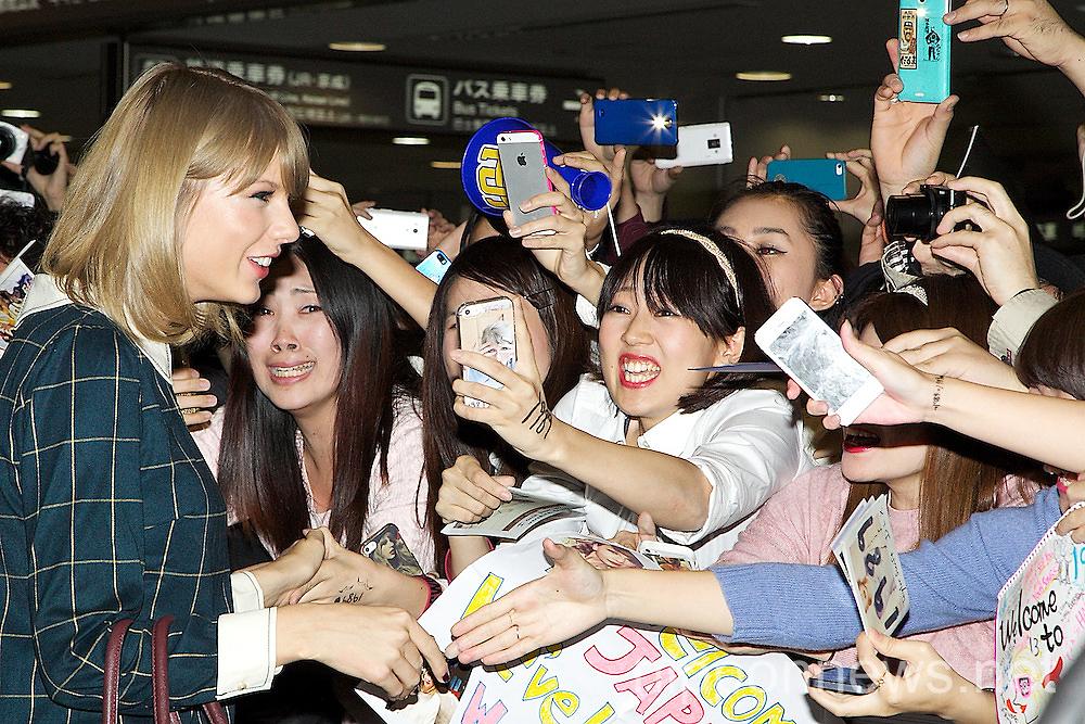 Taylor Swift arrives in Japan