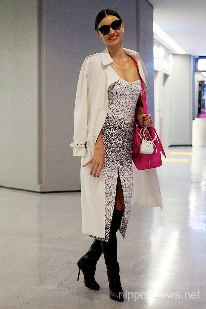 Miranda Kerr Arrives in Japan