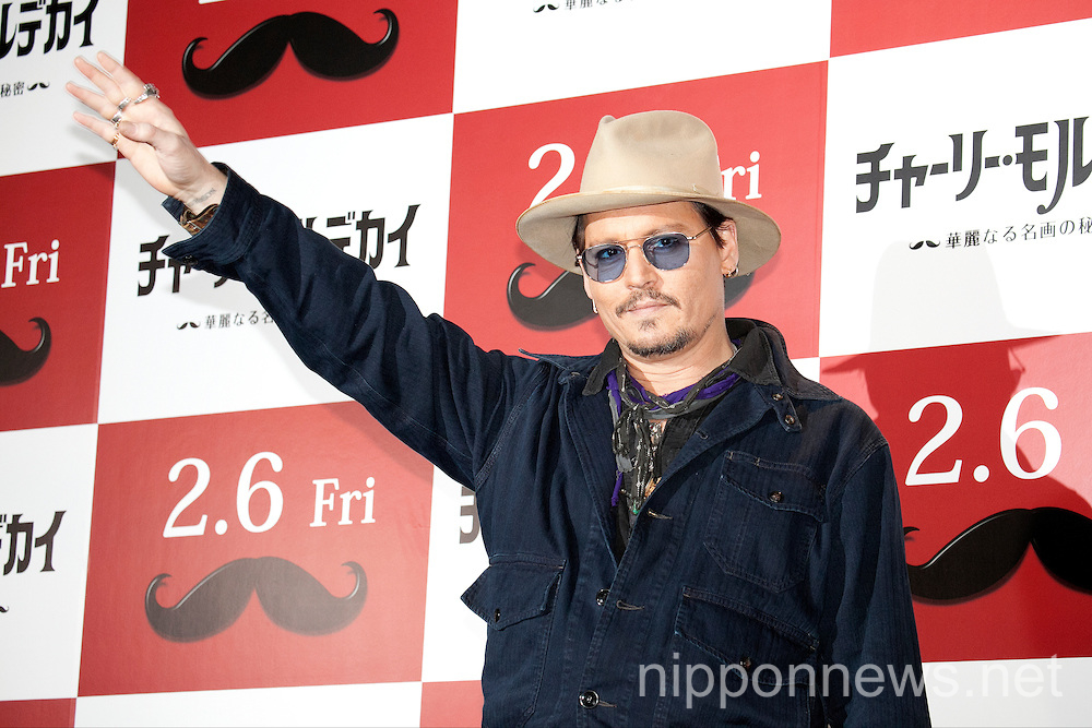 Mortdecai Press Conference in Tokyo