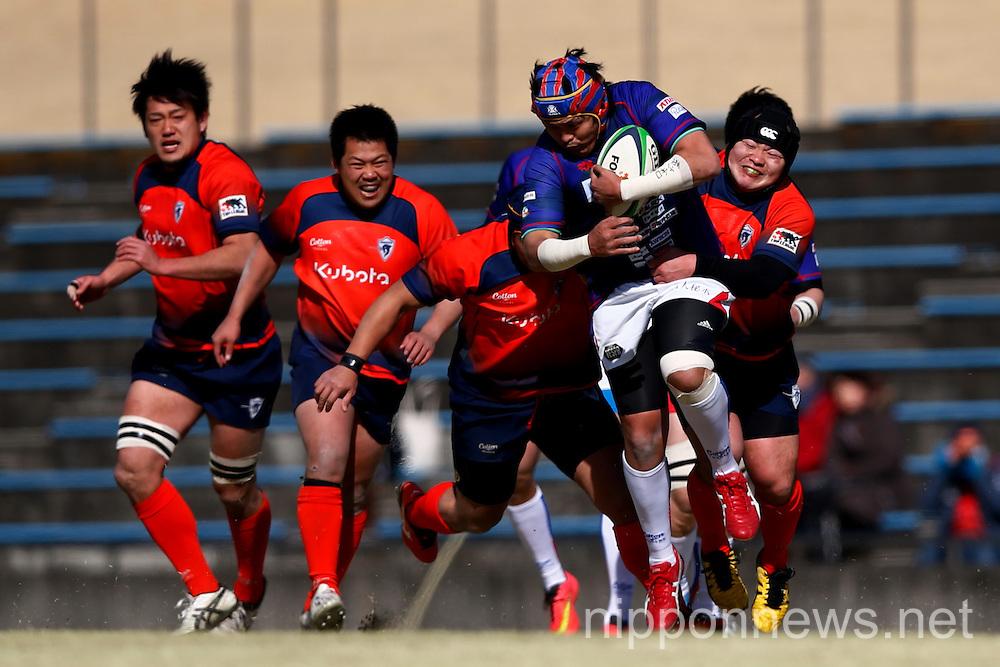 Rugby : Japan Rugby Top League 2014-2015 Playoff match between KUBOTA Spears 34-5 Kamaishi Seawaves RFC