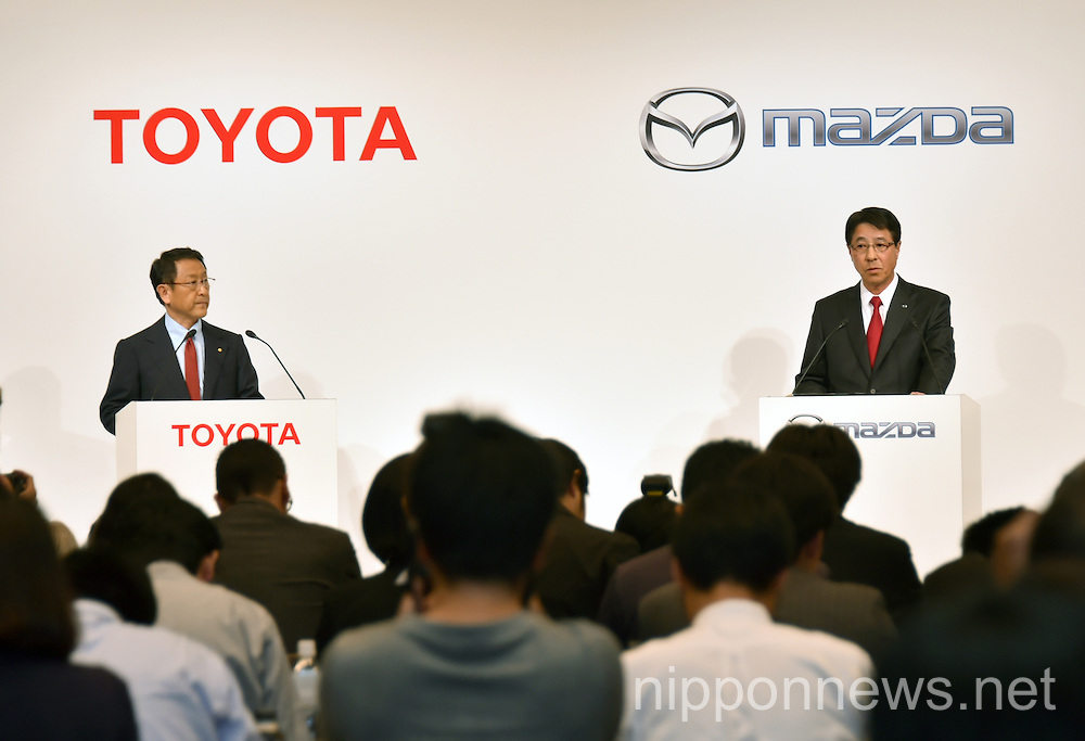 Toyota and Mazda announce long-term partnership in technology