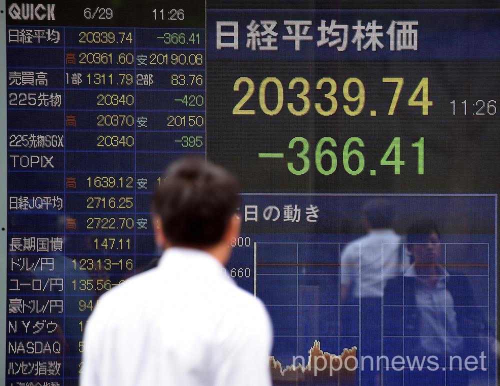 Japanese stocks tumble on fears of Greek default