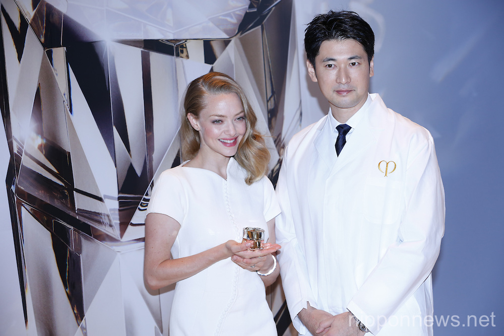 Amanda Seyfried Promotes New Shiseido Beauty Line