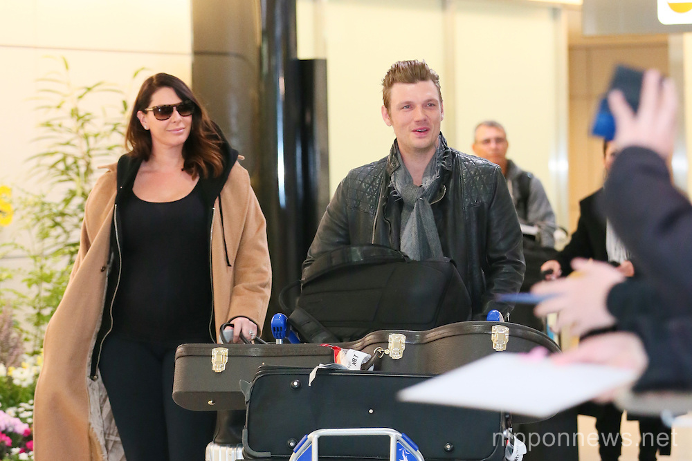 Nick Carter arrives at Narita Airport, Japan