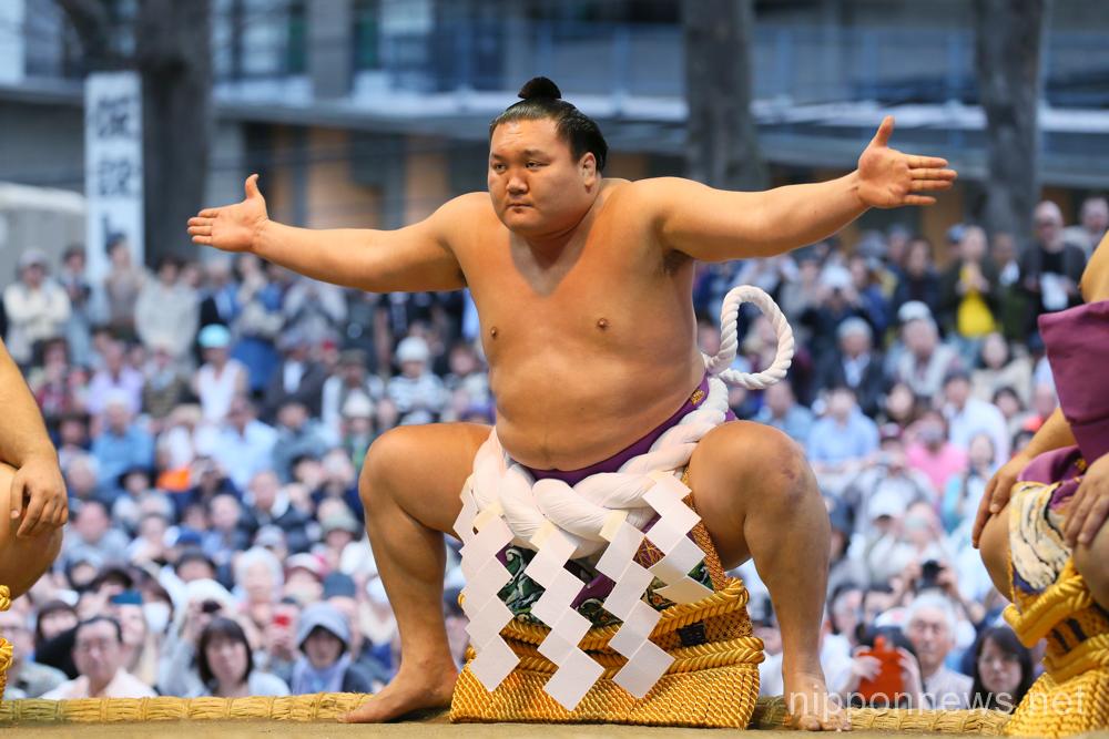 Sumo at the Yasukuni Shrine in Tokyo Japan
