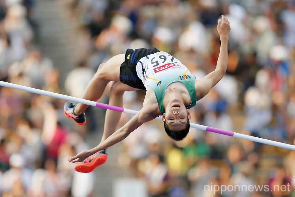 Takashi Eto, JUNE 26, 2016 - Athletics : The 100th Japan Track & Field National Championships Men's High Jump Final at Paloma Mizuho Stadium, Aichi, Japan. (Photo by Yusuke Nakanishi/AFLO SPORT)