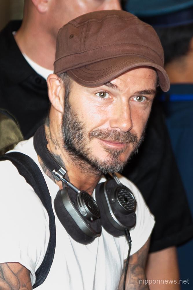 David Beckham arrives in Japan
