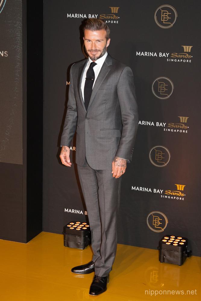 David Beckham attends Marina Bay Sands' promotional event