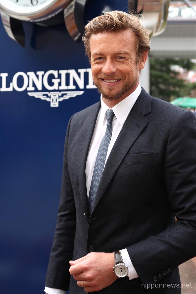 Longines Ambassador Simon Baker attends a horse race in Japan