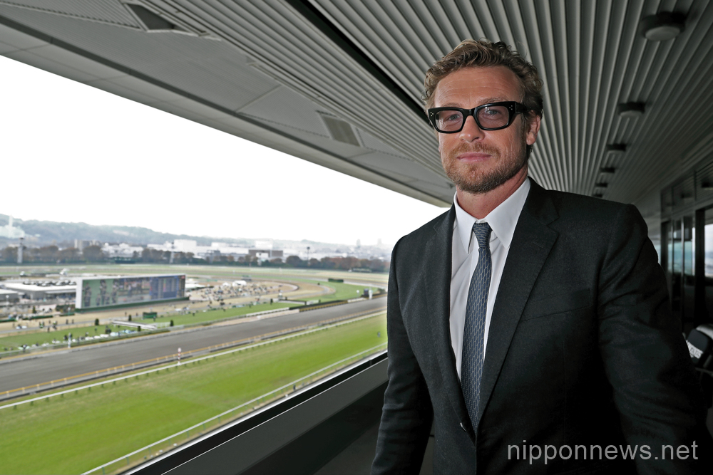 Simon Baker attends The Japan Cup as Longines Ambassador