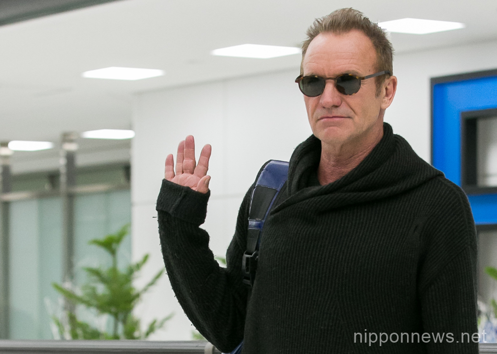 Sting Arrives in Japan