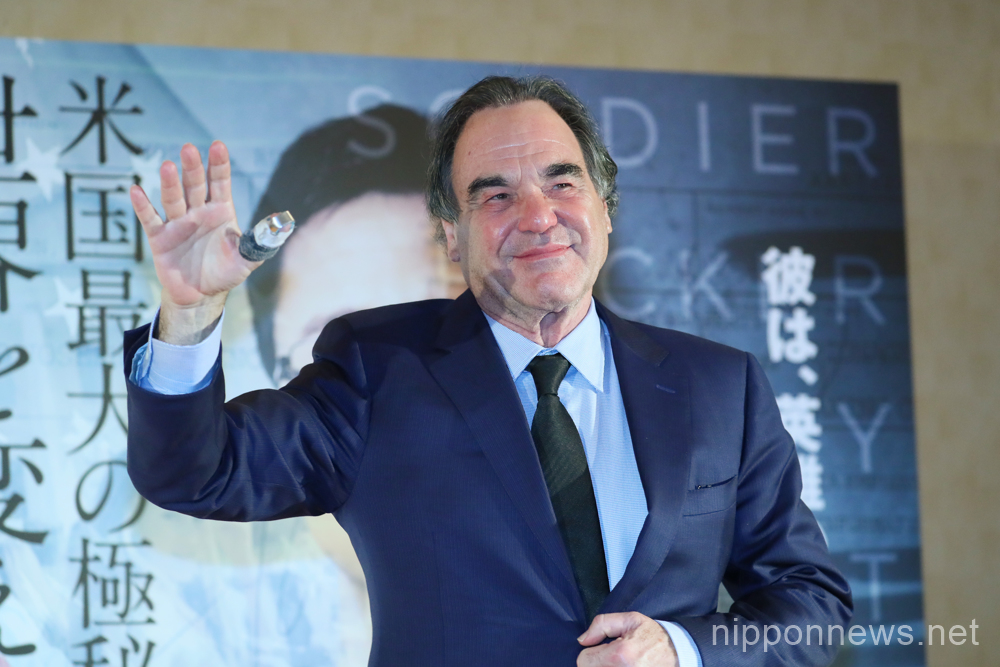 "Oliver Stone promotes ""Snowden"" in Tokyo"