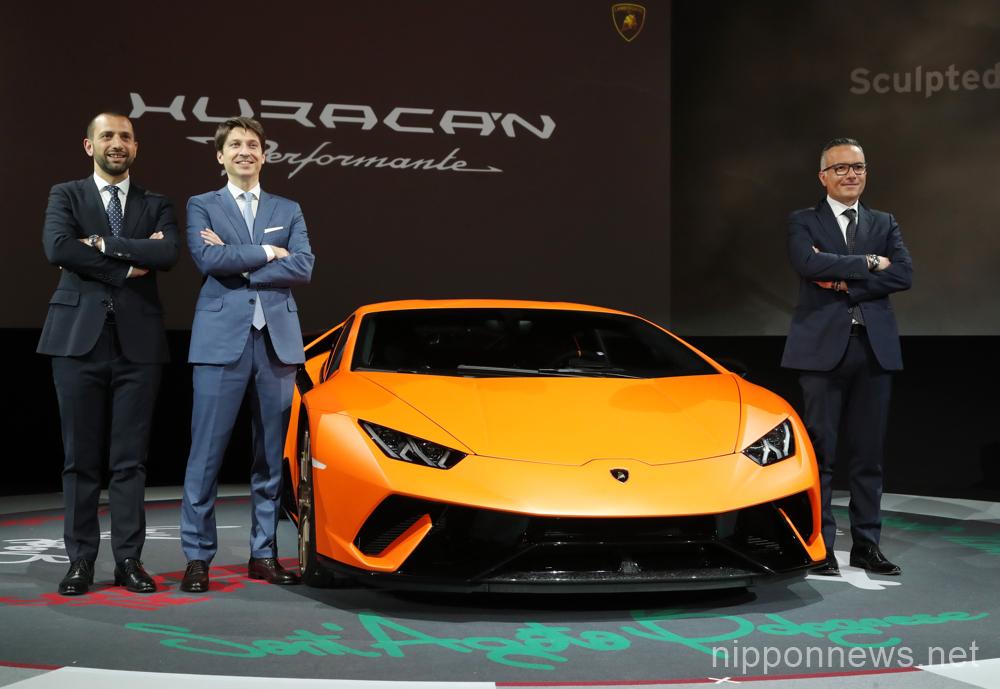 Lamborghini Huracan Performante unveiled in Tokyo